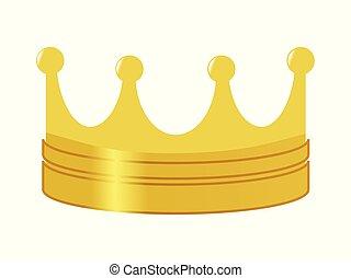 dorato, simbolo, potere, corona