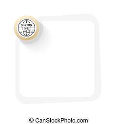 dorato, simbolo, soluzione, parole, mondo, cerchio, globo