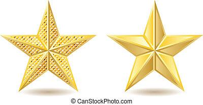 dorato, stelle