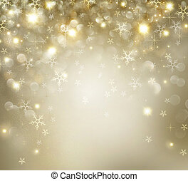 dorato, stelle, lampeggiamento, fondo, vacanza, natale
