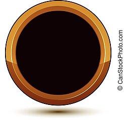dorato, vettore, emblema, classico, chiaro, isolato, eps, fondo., aristocratico, anello, 8., bianco