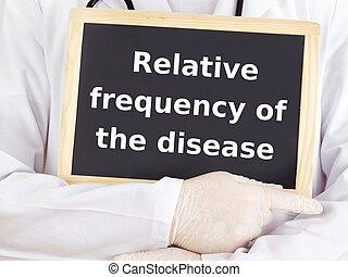 dottore, information:, malattia, mostra, relativo, frequenza