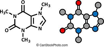 drinks., caffè, tè, energia, molecule., caffeina, presente, molti, morbido, stimolante