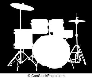 drum-type, illustrazione