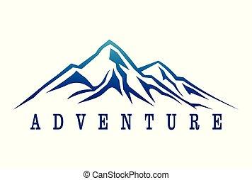 dsign, logotipo, avventura, montagna