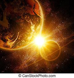 due, pianeti, spazio