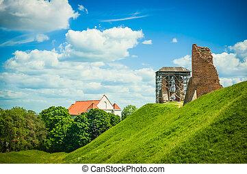 durante, castello, rovine, rinnovamento