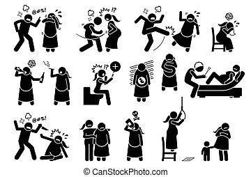 durante, violenza, intimo, pregnancy.