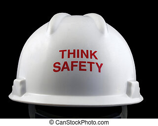 duro, pensare, cappello, sicurezza