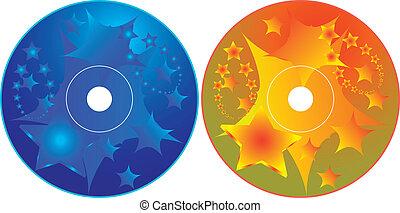dvd, -, cd, disegno, sagoma, etichetta