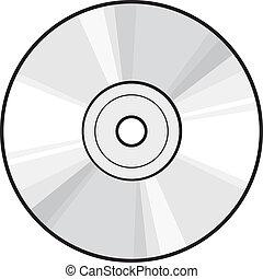 dvd, disco, o, cd