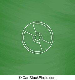 dvd, simbolo, computer, cd