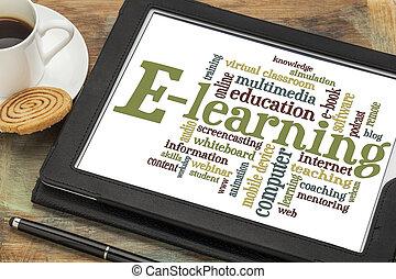 e-imparando, parola, nuvola