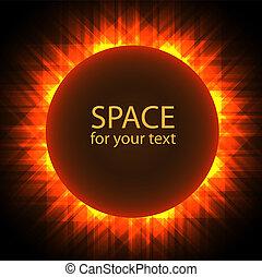 eclissi, solare, astratto