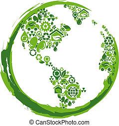 eco, -, 2, concetto, pianeta