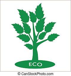 eco, alberi., concept., vettore, astratto