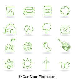 eco, ambiente, oggetti