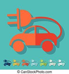 eco, appartamento, design:, automobile