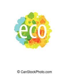 eco, astratto, illustrazione, vettore, segno., icona