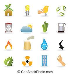 eco, bottoni, ambiente