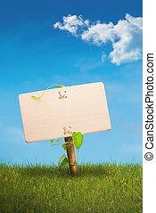 eco, comunicazione, -, segno, verde, amichevole