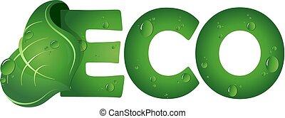 eco, foglia, simbolo, verde