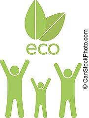 eco, foglie, famiglia, ahd