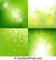 eco, fondo, set, verde, offuscamento