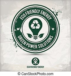 eco, francobollo, energia alternativa