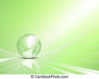 eco, globo, concetto, verde