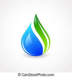 eco, goccia acqua