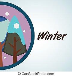 eco, naturale, albero, design., concept., vettore, editable, icona