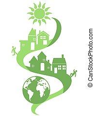 eco, naturale, comunità, fondo