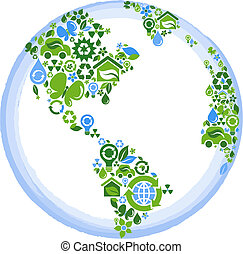 eco, pianeta, concetto