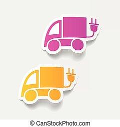 eco, realistico, element:, disegno, automobile