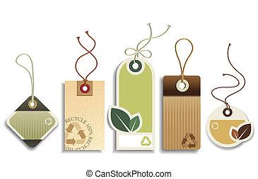 eco, riciclare, etichette