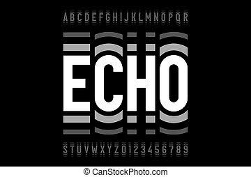 eco, stile, font, moderno