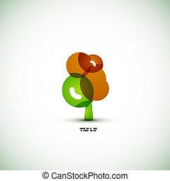eco, verde, concetto, albero