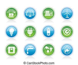 ecologia, energia, potere, icone