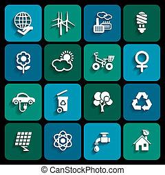 ecologia, icone