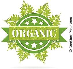 ecologia, organico, logotipo, sigillo, prodotto
