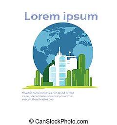 ecologia, spazio, astratto, fabbrica, ambiente, produzione, infographic, copia