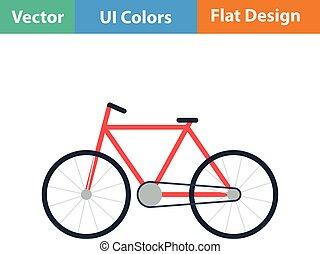 ecologico, bicicletta, icona