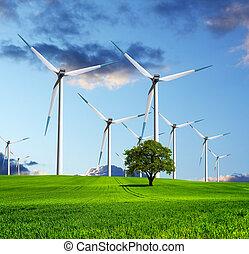 ecologico, futuro, industria