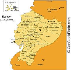 ecuador, amministrativo, capitali, distretti