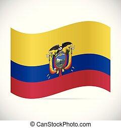 ecuador, illustrazione, bandiera