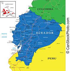ecuador, mappa