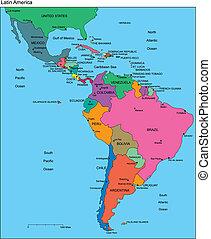editable, latino, paesi, nomi, america