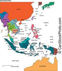 editable, paesi, nomi, asia, sud-est