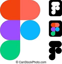 editoriale, bianco, sviluppo, figma, vettore, domanda, disegno, mobile, logos, more., domande, serie, sito web, fondo.